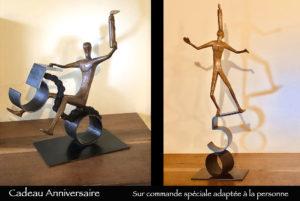 Cadeau d'anniversaire original et personnalisé en bronze
