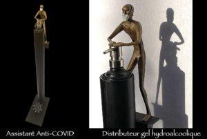 distributeur de gel hydroalcoolique anti-covid