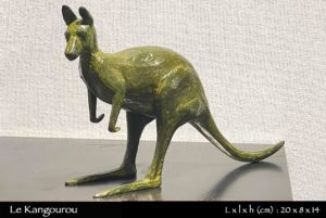 kangourou australien en bronze